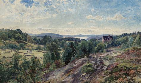 alfred wahlberg svenskt landskap motiv fran torreby