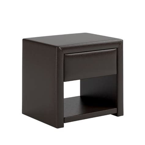 leather nightstands faux leather nightstand in black espresso bip 879 n