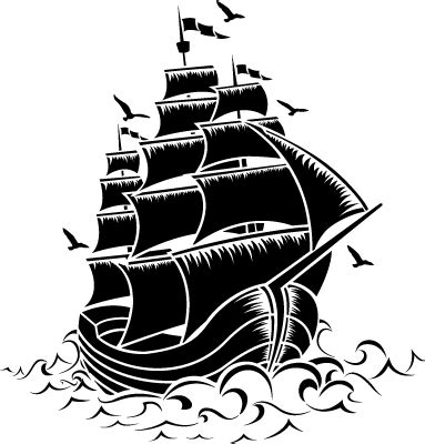sailing ship stencil  walls  fabrics   buy