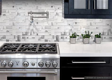 aluminum backsplash kitchen modern espresso cabinet white glass metal backsplash tile