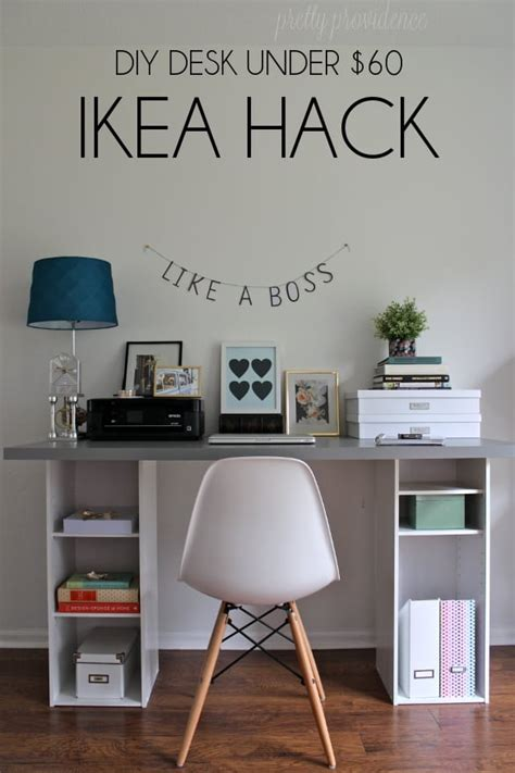 how to have a desk in a small bedroom ikea hack desk diy for under 60