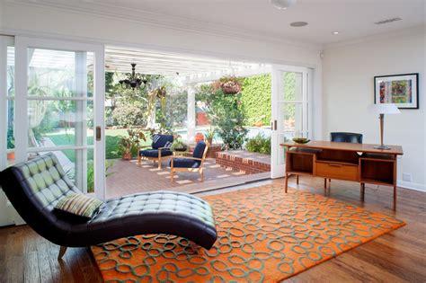 Living Room Door Glass by Indoor Outdoor Living Room With Sliding Glass Doors Hgtv