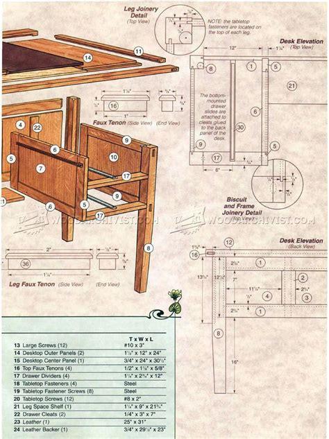 Arts And Crafts Desk Plans • Woodarchivist