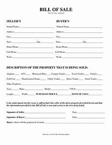 Blank General Personal Property Bill Sale Form And Fill