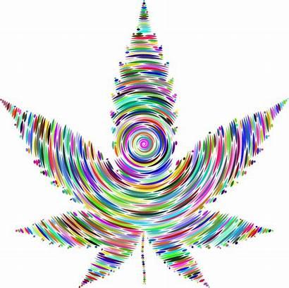 Marijuana Weed Colorful Leaf Cannabis Pot Prismatic
