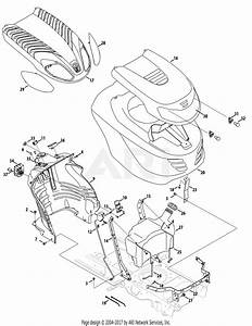 Mtd 13ax90yt001  2010  Parts Diagram For Fuel Tank  Hood  U0026 Dash