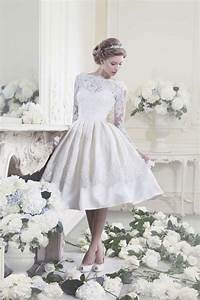 Stylish collections of short lace vintage wedding dresses for Short vintage lace wedding dresses