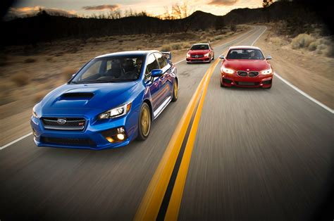 Subaru Vs Bmw by Bmw M235i Vs Mercedes Cla45 Amg Vs Subaru Wrx Sti