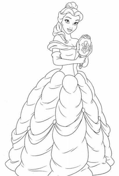 Coloring Disney Pages Belle Princess Characters Walt
