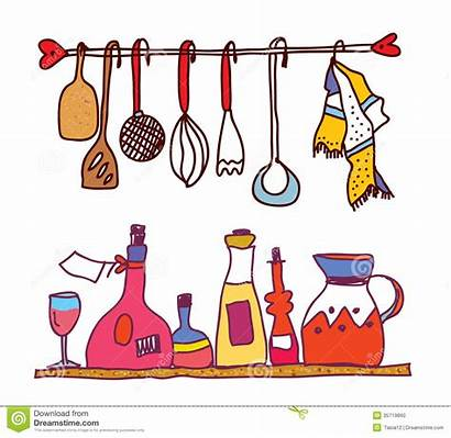 Utensils Cooking Clipart Kitchen Clipartpanda Hanging Funny