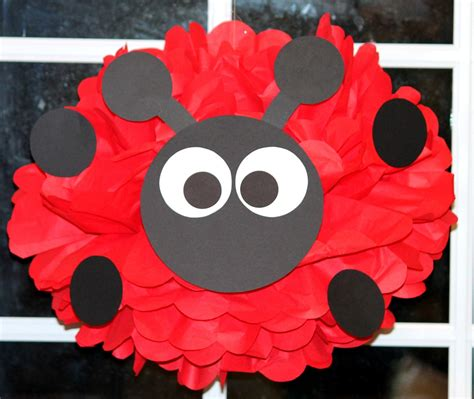 Ladybug Pom Pom Kit Moustache Baby Shower First Birthday