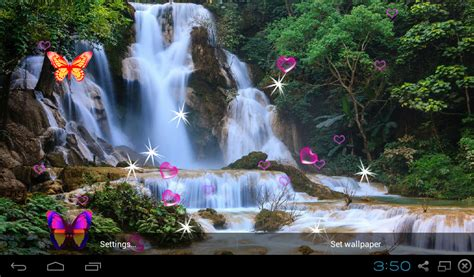 3d Wallpaper Waterfall by 3d Waterfall Live Wallpaper Appstore For Android