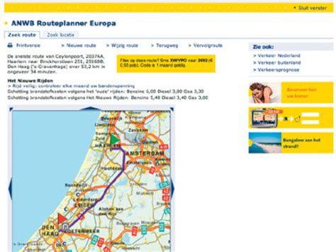 anwb routeplanner pcm