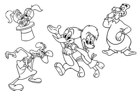 buku belajar mewarnai gambar kartun woody woodpecker