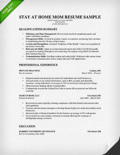 How To Write A Resume When You Been A Stay At Home For 10 Years 12 best resume images on resume tips sle resume and search