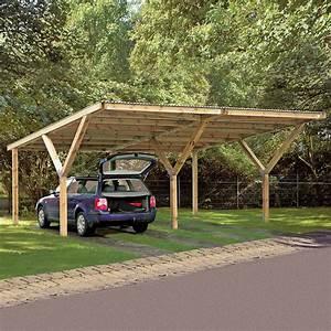 Carport Maße Für 2 Autos : weka doppelcarport 6 06 x 5 94 m einfahrtsh he 2 41 m ~ Michelbontemps.com Haus und Dekorationen