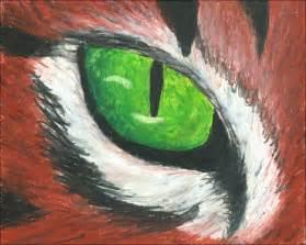 oil pastel cat eye  snowysylva  deviantart