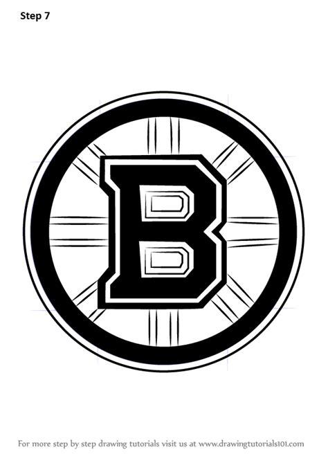 learn   draw boston bruins logo nhl step  step drawing tutorials