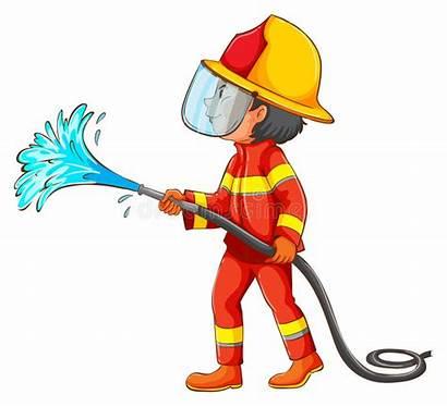 Hose Clipart Water Fireman Fire Vector Using
