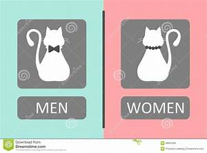 Cat Toilet Sign Royalty Free Stock Photos - Image: 38661658