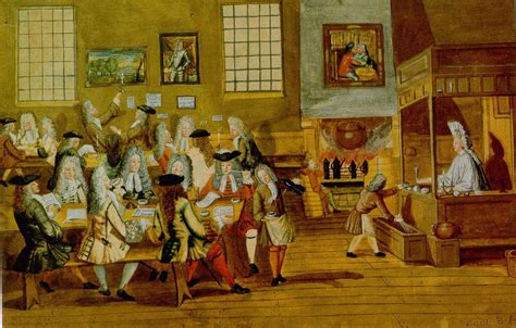 A London Coffee House Interior. Anonymous, 1668. Coffee Table Book Brazil Cover Design Mountains Scrub On Scalp And Cigarettes For Weight Loss Storage Kashmir