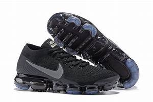 Size US7 12 Nike Air VaporMax Flyknit 2018 Black 849558 001 Men's Running Shoes Trainers