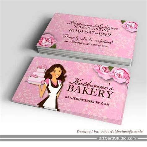 cake bakery business cards  images bakery business