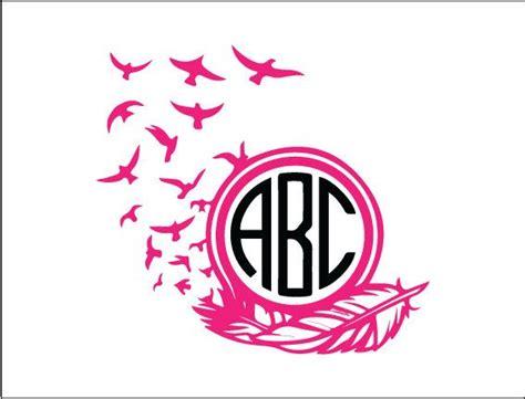 feather  bird monogram tumbler monogram  argraphicdesigns monogram vinyl decal monogram