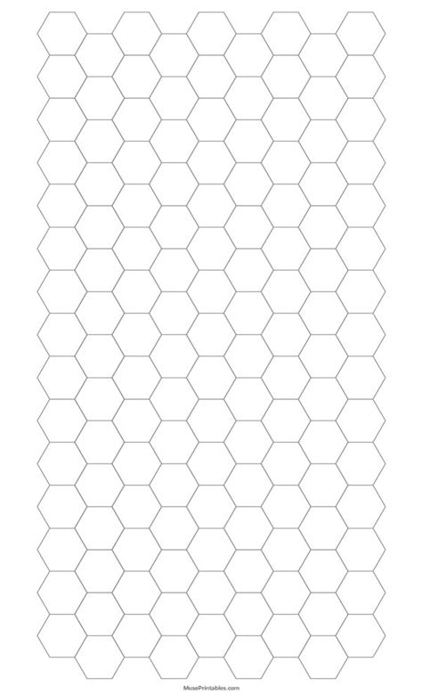 printable   gray hexagon graph paper  legal