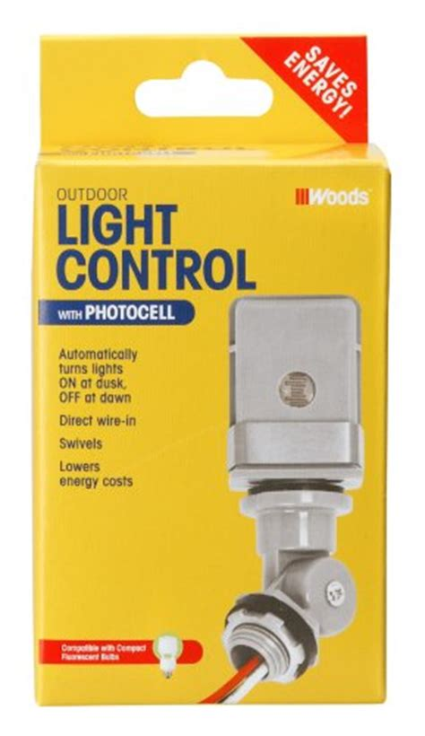 Woods Outdoor Hardwire Conduit Light Control With