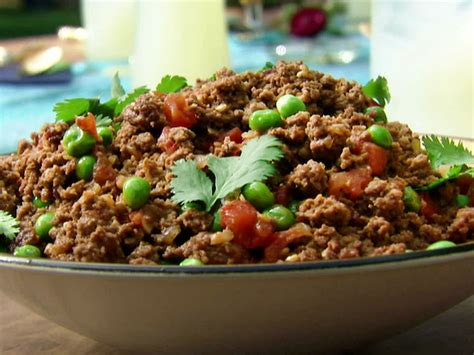 recipes with ground beef kheema indian ground beef with peas recipe aarti sequeira food network
