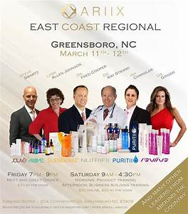 ARIIX – The Opportunity Company – East Coast Regional