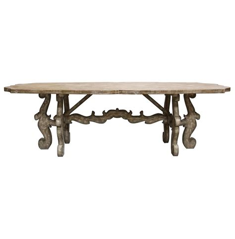 country dining table country rustic scroll farmhouse dining table
