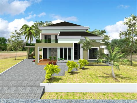 desain rumah hunian konsep modern mdesain