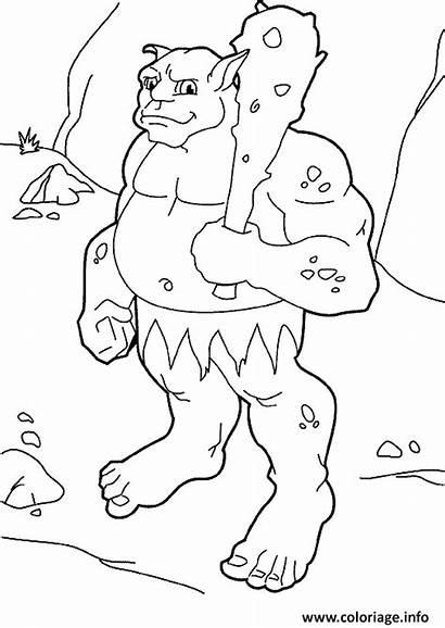 Ogre Coloriage Coloring Dessin Colorear Dibujos Mostri