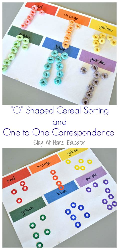 o shaped cereal and one to one correspondence counting 261 | O shaped cereal and one to one correspondence counting activity for preschoolers Stay At Home Educator