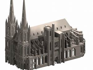 Clermont cathedral gothic architecture 3d model 3dsmax ...