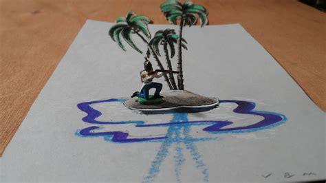 uninhabited island  anamorphic drawing youtube
