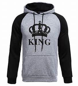 King And Queen Bettwäsche : zkoo mann frau paar hoodies king queen krone drucken p rchen pullover mit kapuze langarm ~ Frokenaadalensverden.com Haus und Dekorationen