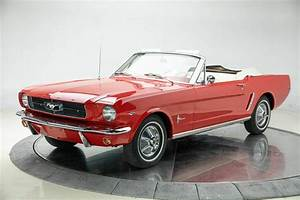 1965 Ford Mustang 1965 Ford Mustang V8 289 4V Automatic 3-Speed Convertible Rangoon Red ...