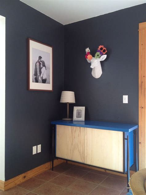 "Benjamin Moore ""raccoon fur"" wall with a thrift store"