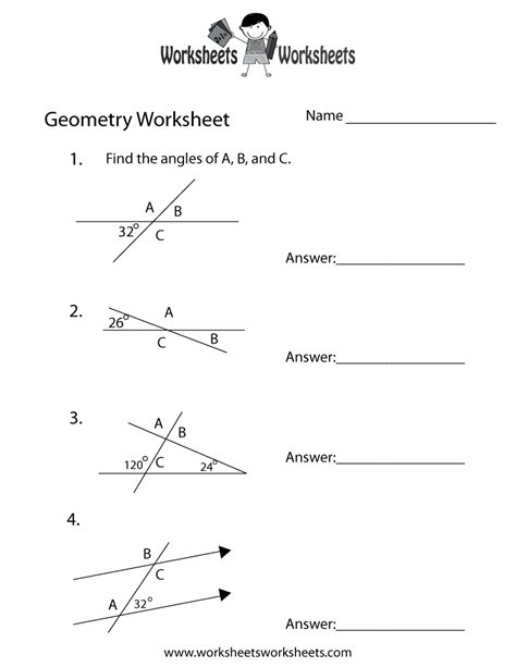 9 Best Images Of Basic Geometric Ideas Worksheet  Geometry Angles Worksheet, Geometry