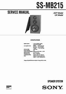 Sony Ss-mb215 Service Manual