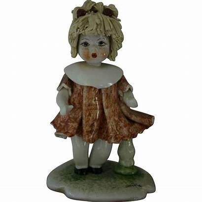 Figurine Zampiva Porcelain Collectible Doll Rare Blonde