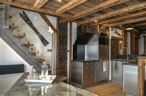 Cuisine Italienne Meubles - appartement basic métamorphosé en chalet déco montagne