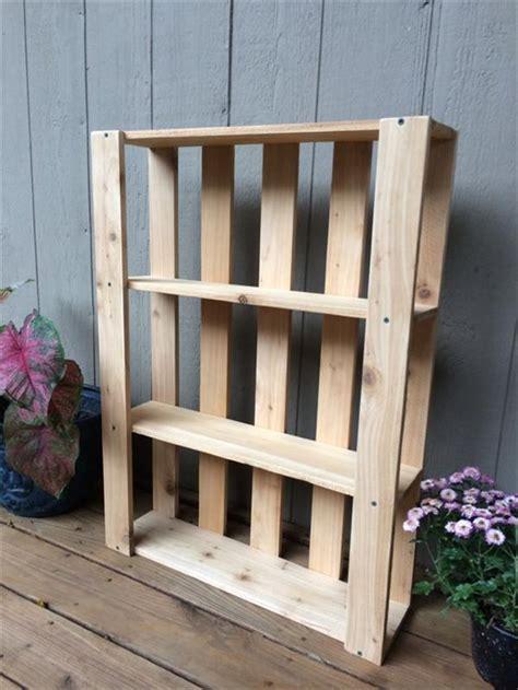 diy pallet bookshelf 10 diy wood pallet shelf ideas 1001 pallet ideas