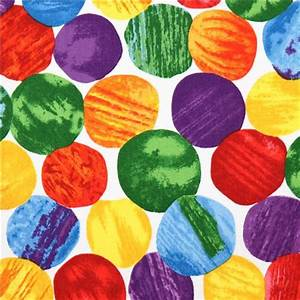 white colorful dot fabric The Very Hungry Caterpillar ...