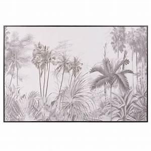 Tableau Lion Noir Et Blanc : tableau jungle noir et blanc 75x50 photo ~ Dallasstarsshop.com Idées de Décoration
