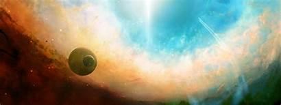 Dual Monitor Space Wallpapers Desktop Backgrounds Nebula