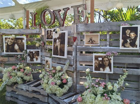 Country Chic Wooden Pallet Wedding Backdrop L O V E